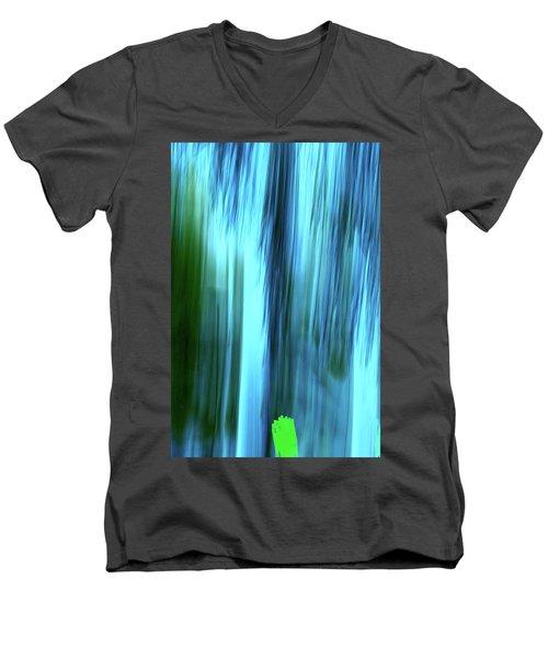 Moving Trees 37-15portrait Format Men's V-Neck T-Shirt