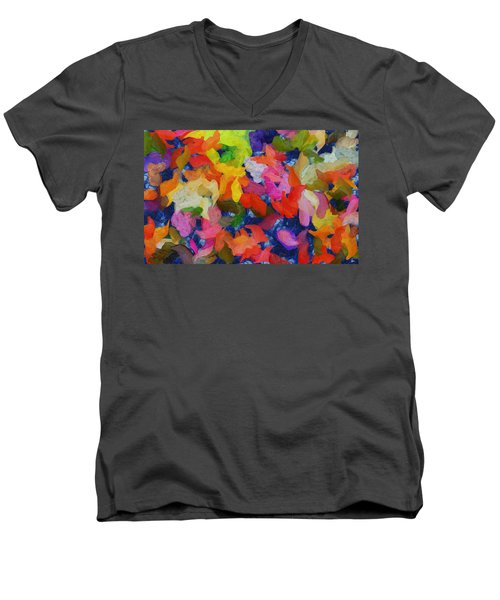 Mr Autumn Meets  Lady Spring - Painting - Wet Paint  Men's V-Neck T-Shirt