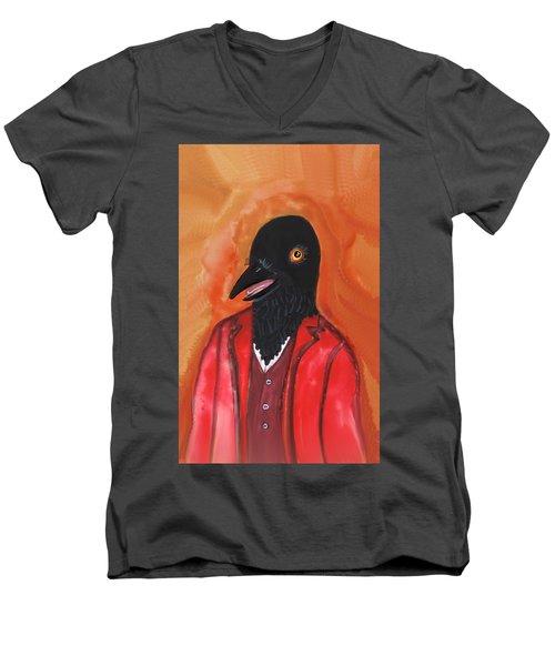 Mr. Crow's Portrait Men's V-Neck T-Shirt