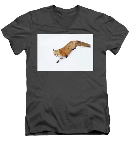 Men's V-Neck T-Shirt featuring the photograph Mr Sly by Mircea Costina Photography