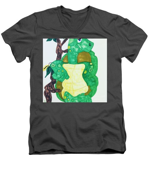Mr. Turtle  Men's V-Neck T-Shirt