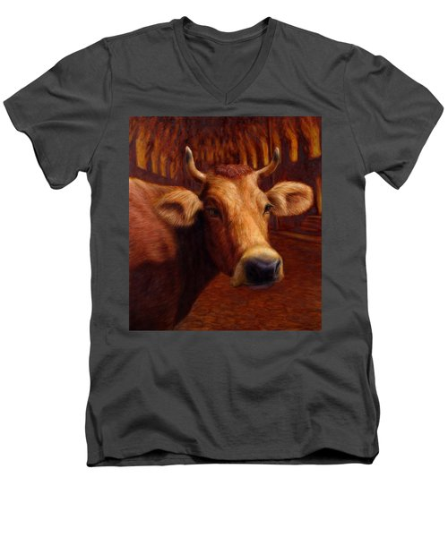 Mrs. O'leary's Cow Men's V-Neck T-Shirt