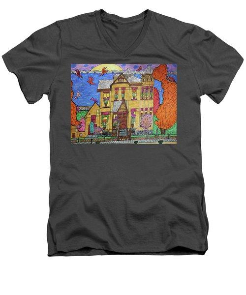 Mrs. Robert Stephenson Home. Men's V-Neck T-Shirt by Jonathon Hansen