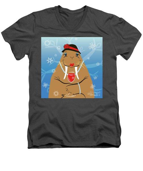 Mrs. Walrus Men's V-Neck T-Shirt