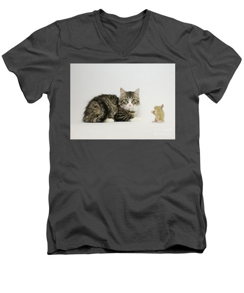 Ms Alexia And Mouse Men's V-Neck T-Shirt
