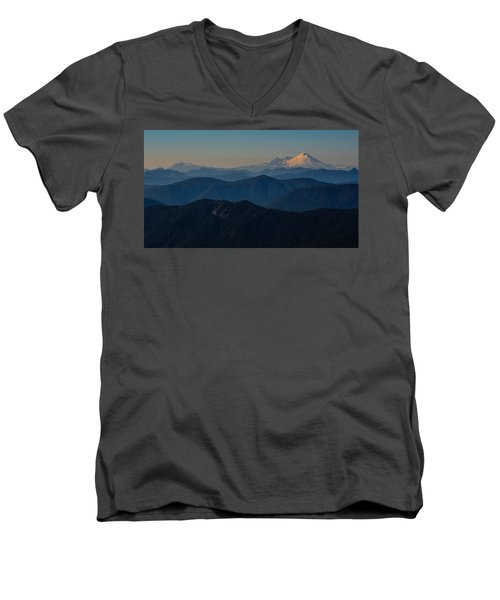 Mt. Baker From Mt. Pilchuck Men's V-Neck T-Shirt