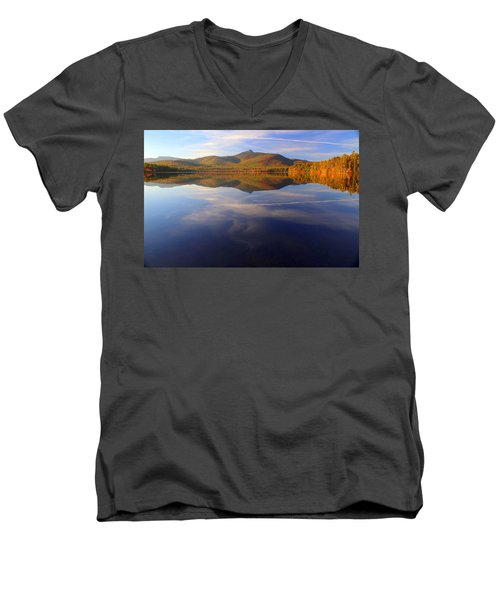 Mt. Chocorua In Blue Men's V-Neck T-Shirt