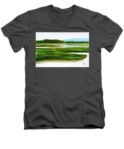 Mt Desert Island Men's V-Neck T-Shirt