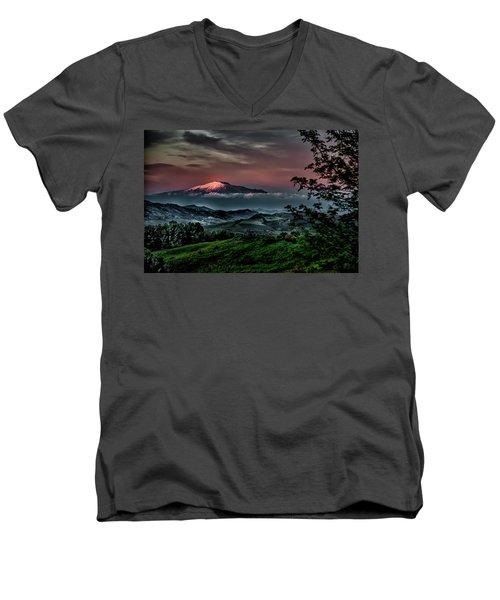 Mt. Etna I Men's V-Neck T-Shirt