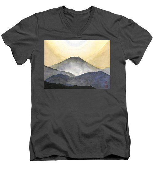 Mt. Fuji At Sunrise Men's V-Neck T-Shirt