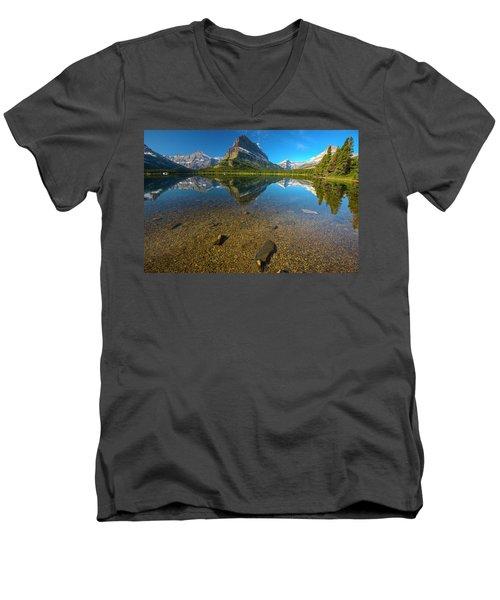 Mt. Grinnell Men's V-Neck T-Shirt