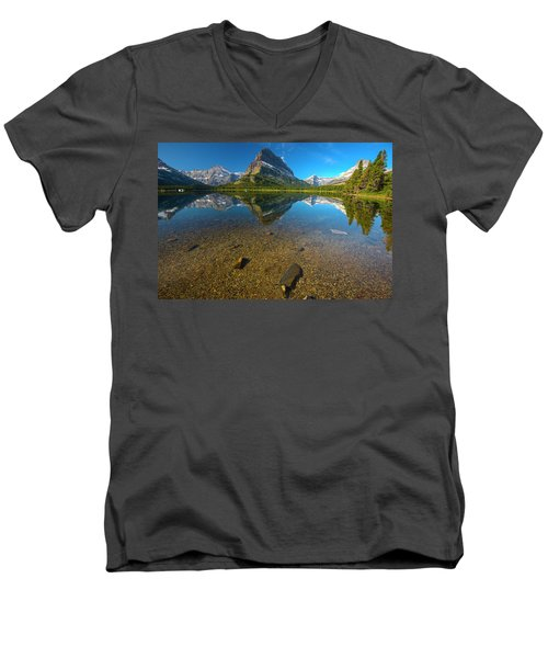 Mt. Grinnell Men's V-Neck T-Shirt