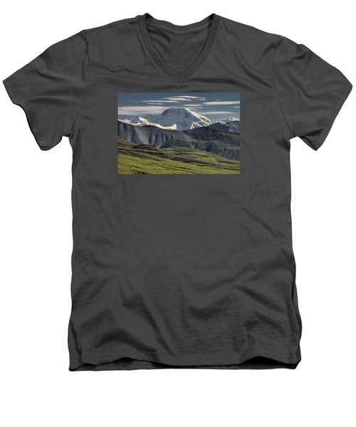 Men's V-Neck T-Shirt featuring the photograph Mt. Mather by Gary Lengyel