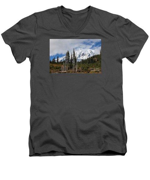 Mt. Rainier High Meadow Men's V-Neck T-Shirt