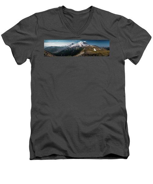 Mt. Rainier Panoramic Men's V-Neck T-Shirt