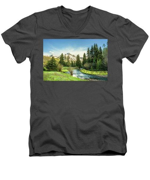 Mt. Sneffels Peak Men's V-Neck T-Shirt