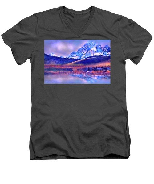 Mt. Stuart Men's V-Neck T-Shirt by Kari Nanstad