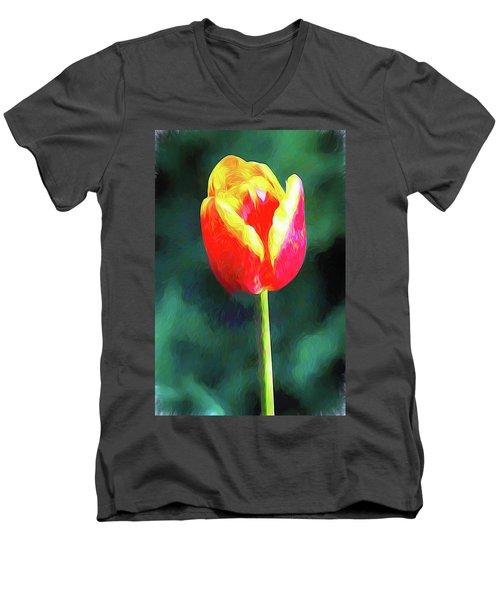 Mt Vernon Tulip Men's V-Neck T-Shirt