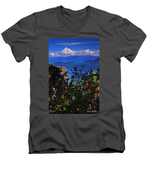 Mt.hood N Fall Men's V-Neck T-Shirt