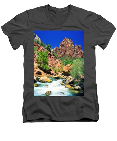 Mt.moroni / Virgin River Men's V-Neck T-Shirt