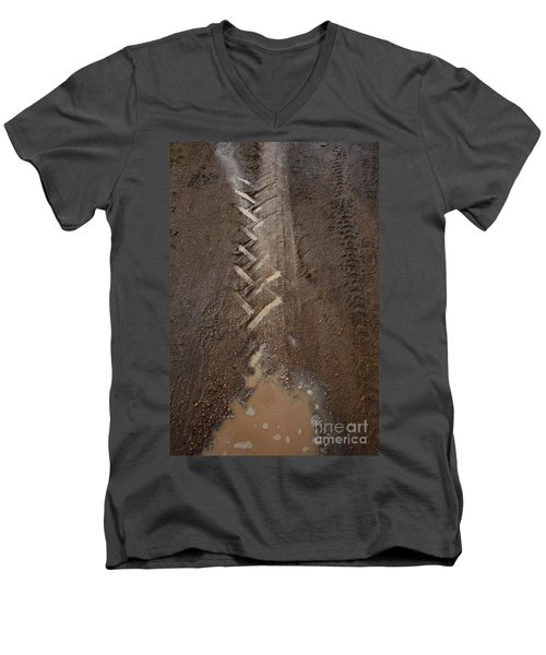 Men's V-Neck T-Shirt featuring the photograph Mud Escape by Stephen Mitchell