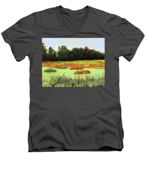 Mud Lake Marsh Men's V-Neck T-Shirt