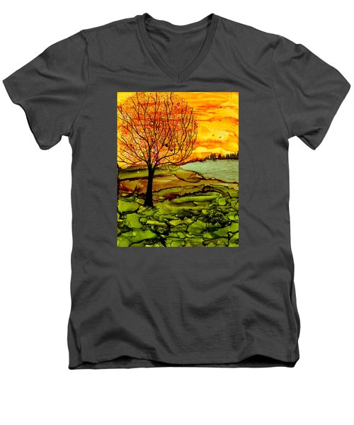 Muddy Fall Men's V-Neck T-Shirt