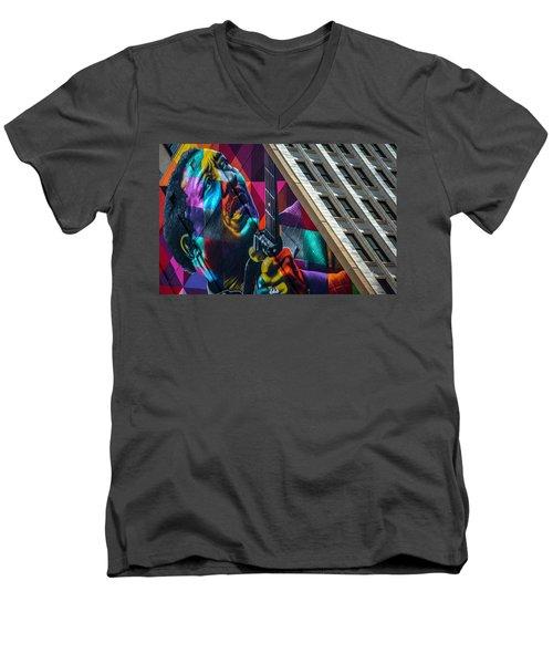 Muddy Waters Chicago State Street Dsc2224 Men's V-Neck T-Shirt