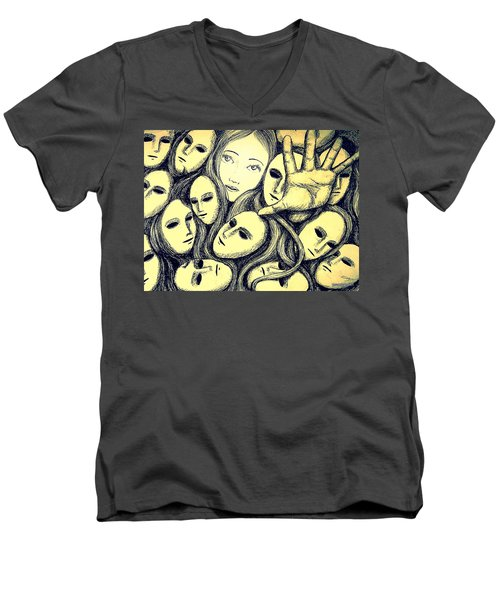 Multiple Personalities Men's V-Neck T-Shirt