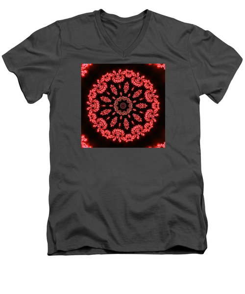 Men's V-Neck T-Shirt featuring the digital art Muluc 9 by Robert Thalmeier