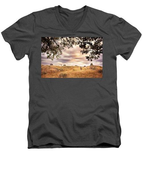 Munson Morning Men's V-Neck T-Shirt by John Poon