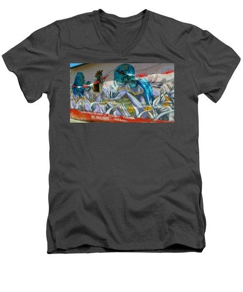 Mural @ Oaxaca Mexico Men's V-Neck T-Shirt