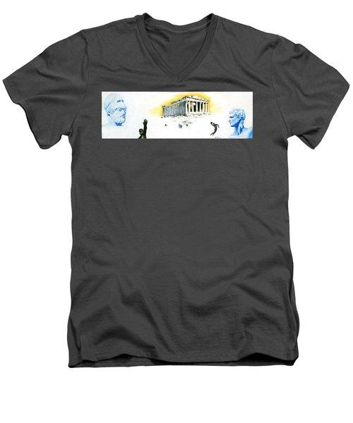 Mural Men's V-Neck T-Shirt