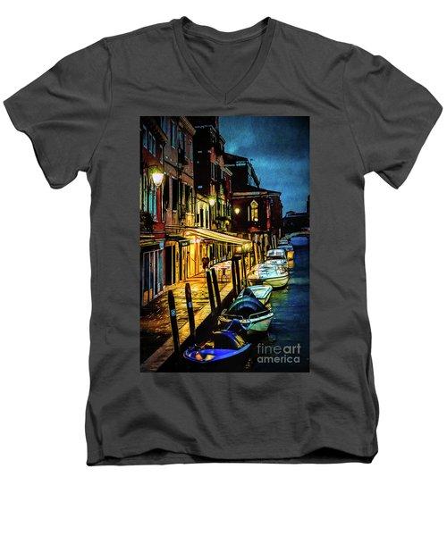 Murano At Night. Men's V-Neck T-Shirt