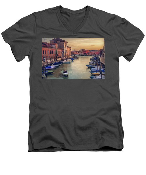Murano Late Afternoon Men's V-Neck T-Shirt