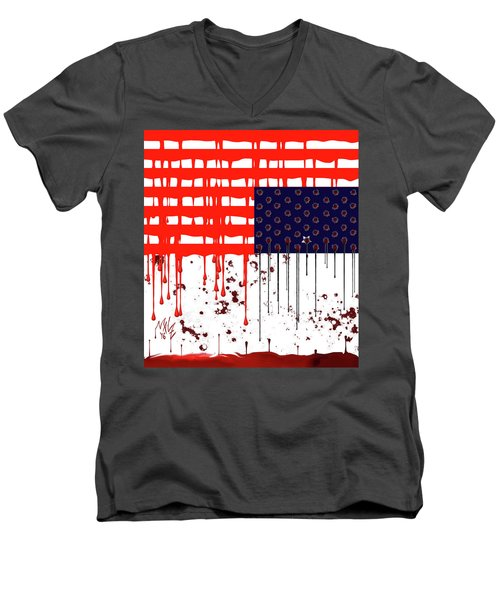 America In Distress Men's V-Neck T-Shirt