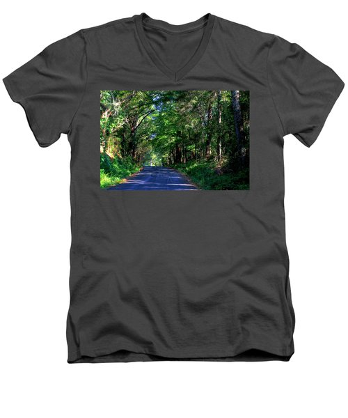 Murphy Mill Road - 2 Men's V-Neck T-Shirt by Jerry Battle