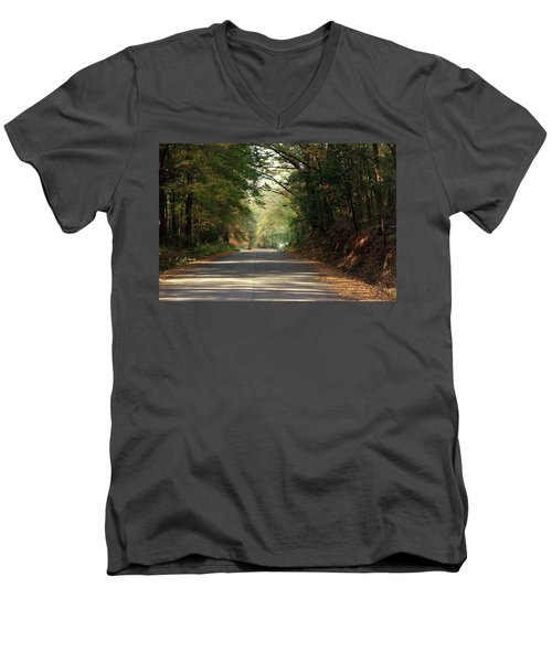 Murphy Mill Road Men's V-Neck T-Shirt by Jerry Battle