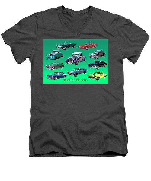 Muscle Times 9 Men's V-Neck T-Shirt by Jack Pumphrey