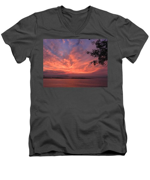 Muscongus Sound Sunrise Men's V-Neck T-Shirt