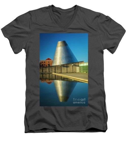 Museum Of Glass Tower Men's V-Neck T-Shirt