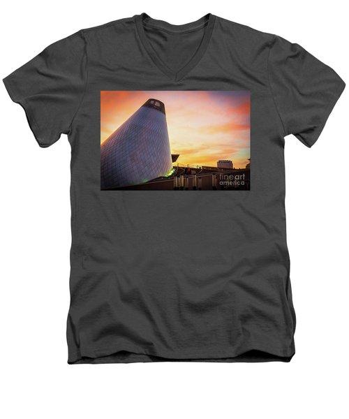 Museum Of Glass Tower#2 Men's V-Neck T-Shirt