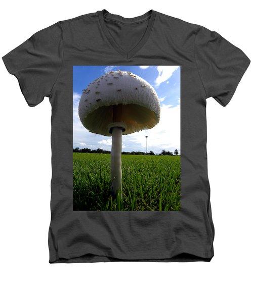 Mushroom 005 Men's V-Neck T-Shirt by Chris Mercer