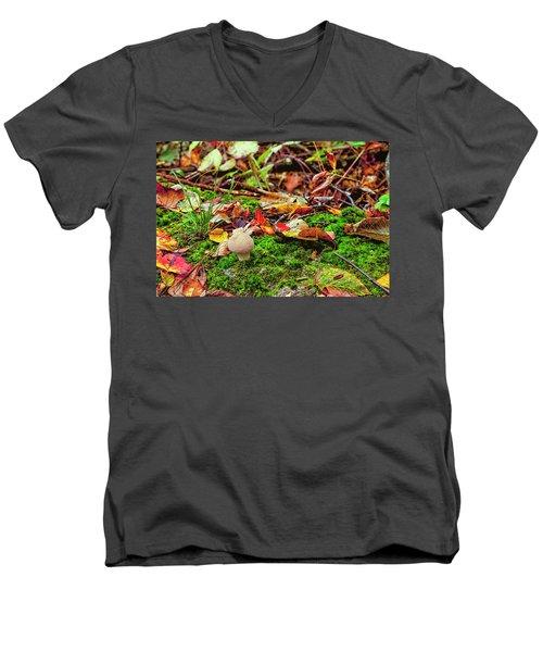 Mushroom Men's V-Neck T-Shirt by David Cote