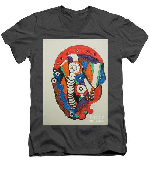 Mushroom Powered Engine 01 - Bellingham - Lewisham, Men's V-Neck T-Shirt