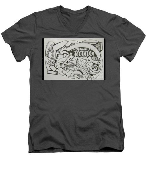 Mushroom Powered Engine 02 - Bellingham - Lewisham Men's V-Neck T-Shirt by Mudiama Kammoh