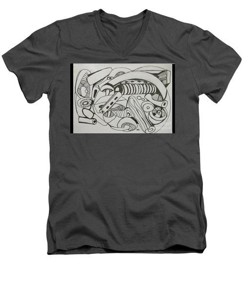 Mushroom Powered Engine 02 - Bellingham - Lewisham Men's V-Neck T-Shirt