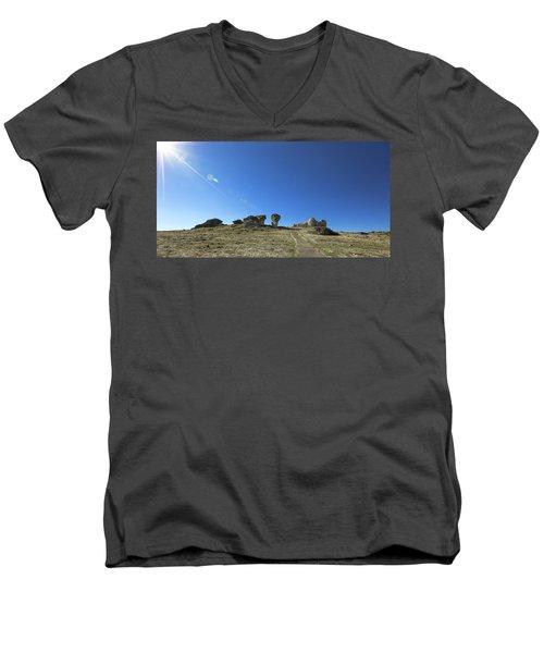 Mushroom Rocks Men's V-Neck T-Shirt