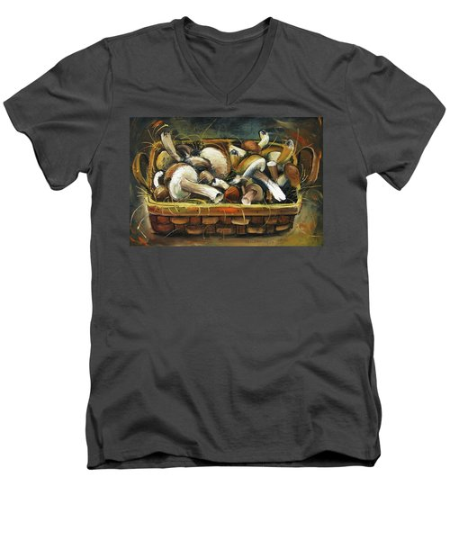 Mushrooms Men's V-Neck T-Shirt