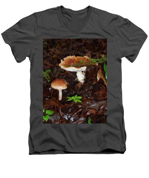 Mushrooms Rising Men's V-Neck T-Shirt